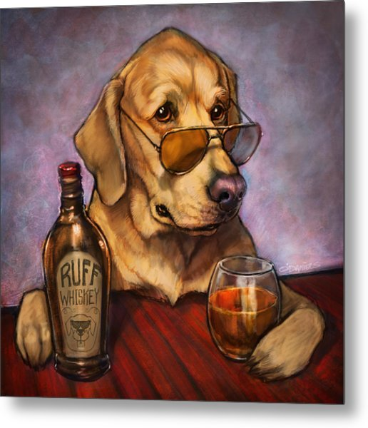 Ruff Whiskey Metal Print