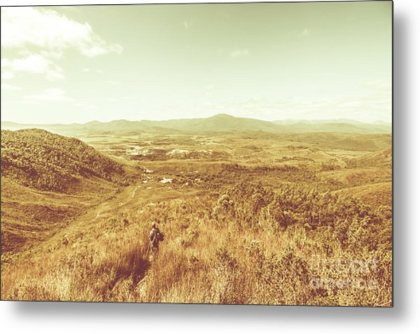 Rugged Bushland View Metal Print
