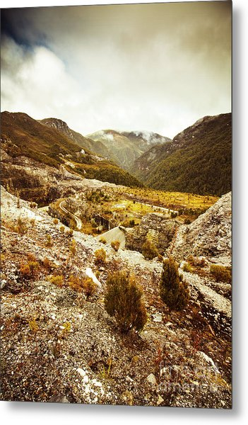 Rugged Valley Wilderness Metal Print
