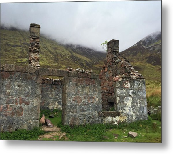 Ruin In Scotland Metal Print