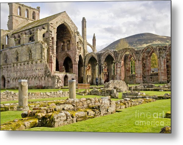 Ruins. Melrose Abbey. Metal Print