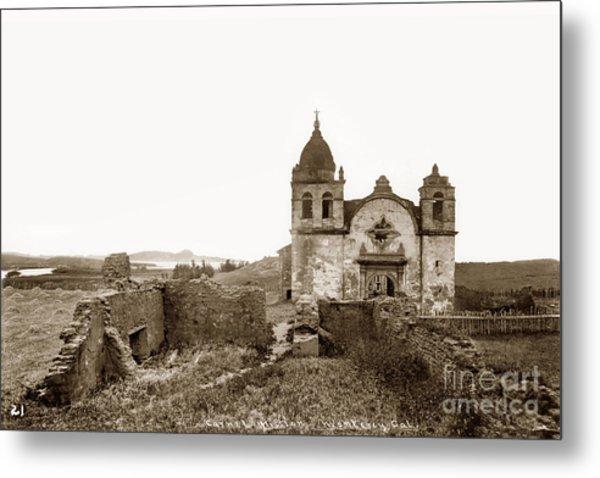 Ruins Of Carmel Mission, Monterey, Cal. Circa 1882 Metal Print
