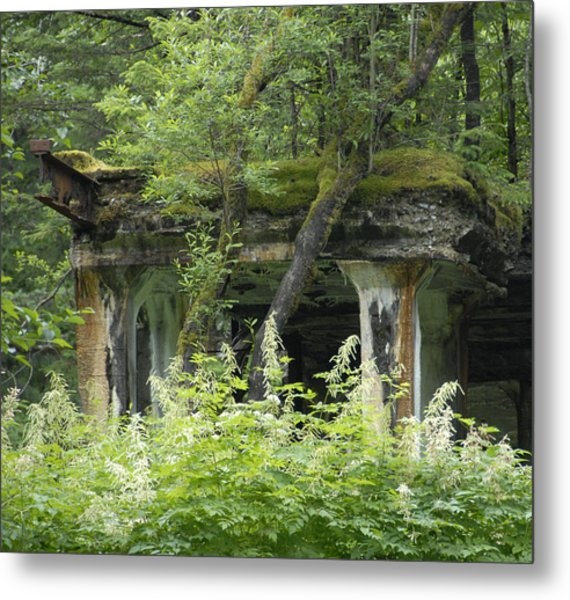 Ruins Of Treadwell Mines Metal Print