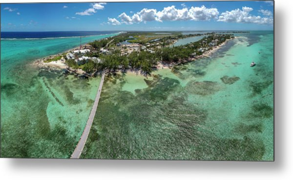 Metal Print featuring the photograph Rum Point Beach Panoramic by Adam Romanowicz