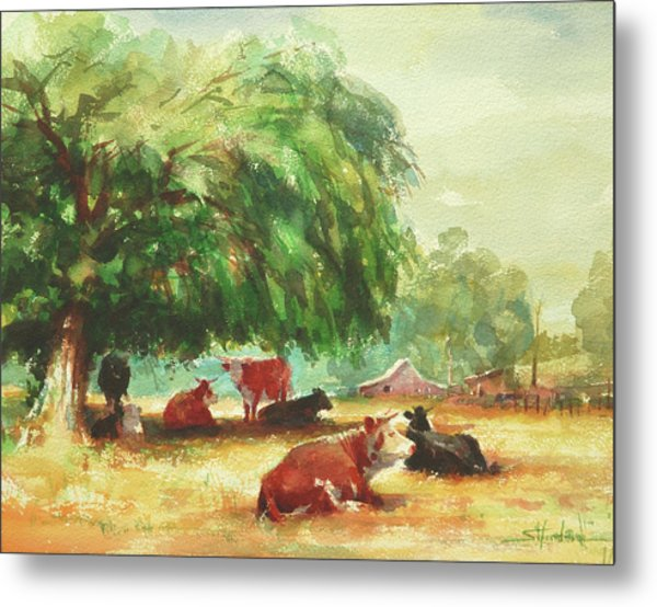 Metal Print featuring the painting Rumination by Steve Henderson