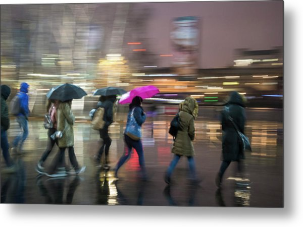 Run Between The Raindrops Metal Print