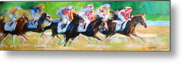 Run For The Money Metal Print