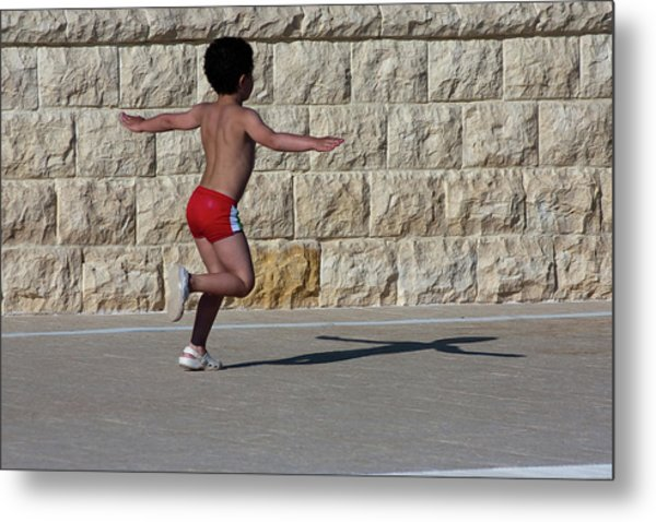 Running Child Metal Print