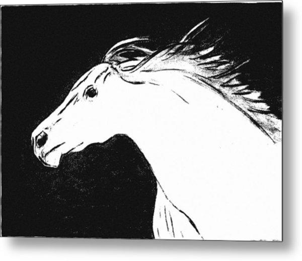 Running Horse Metal Print by Philip Smeeton