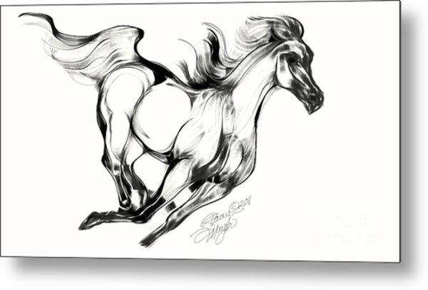 Night Running Horse Metal Print
