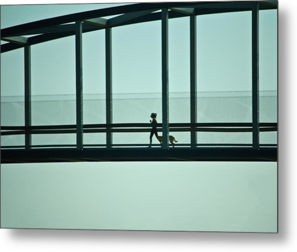 Running On Air Metal Print