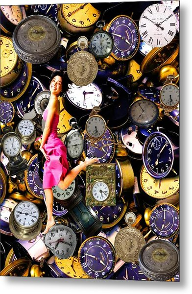 Running Out Of Time Metal Print by Animi Dawn