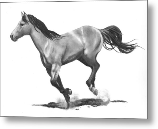 Running Stallion Metal Print by Joyce Geleynse
