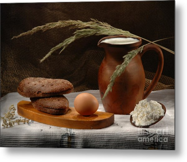 Rural Breakfast Metal Print by Irina No
