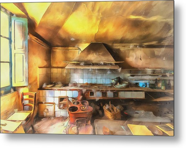 Metal Print featuring the photograph Rural Culinary Atmosphere Nr 2 - Atmosfera Culinaria Rurale IIi Paint by Enrico Pelos