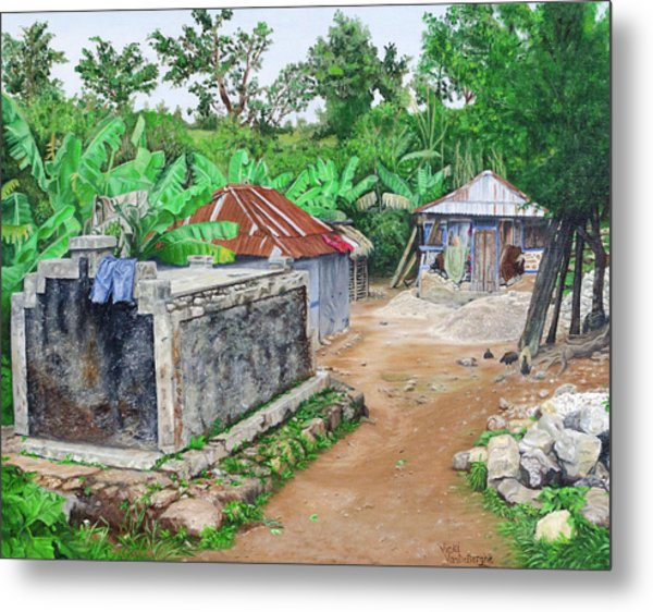 Rural Haiti - A Study In Poignancy Metal Print