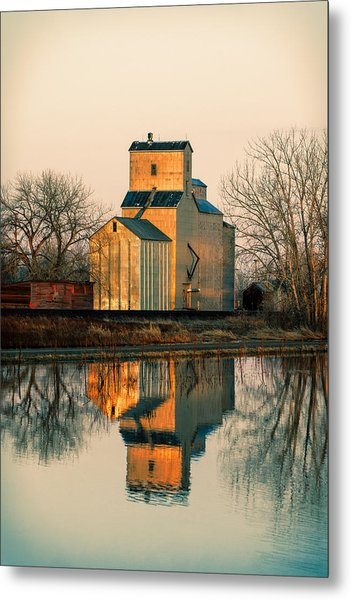 Rural Reflections Metal Print