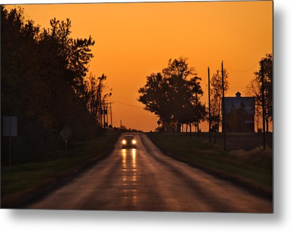 Rural Road Trip Metal Print