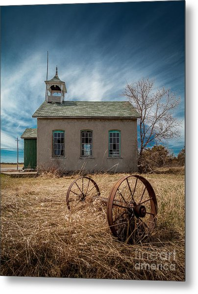 Rural School Metal Print