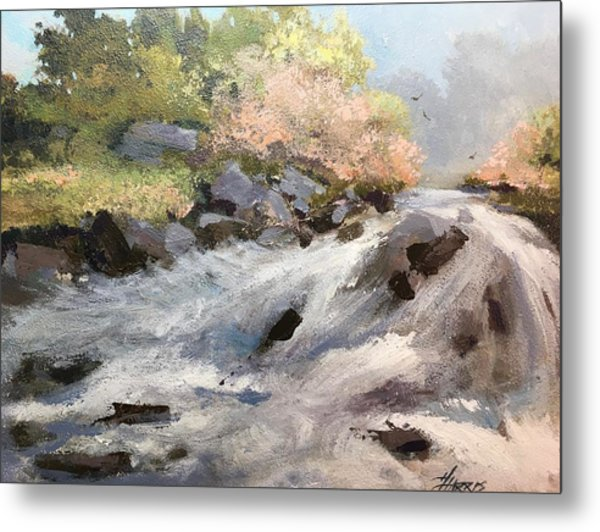 Metal Print featuring the painting Rush by Helen Harris