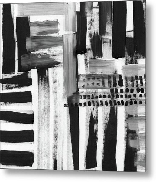 Rush Hour- Art By Linda Woods Metal Print
