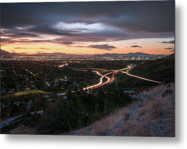 Rush Hour In Salt Lake City Metal Print