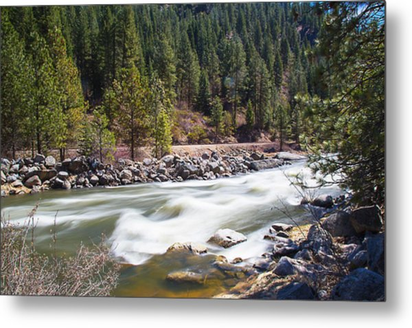 Metal Print featuring the photograph Rushing River by Dart Humeston
