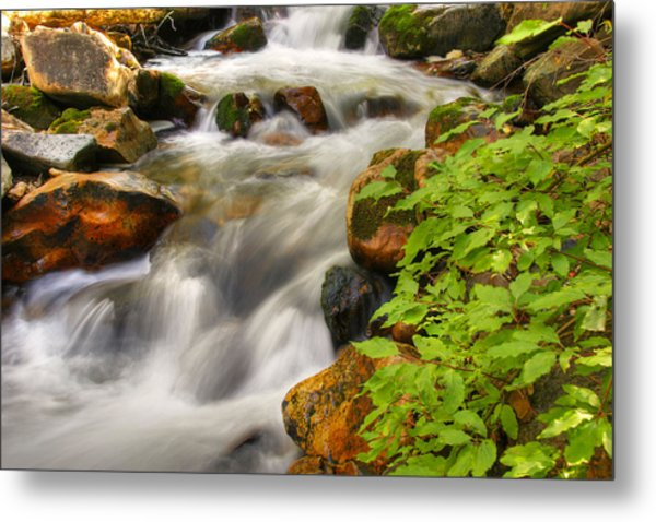 Rushing Water 3 Metal Print by Douglas Pulsipher