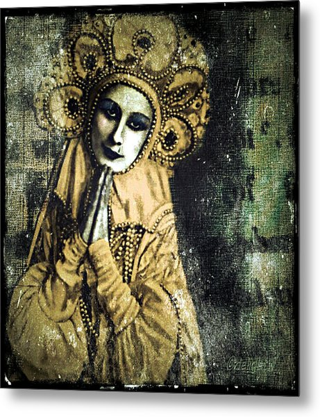 Metal Print featuring the digital art Russian Icon by Delight Worthyn