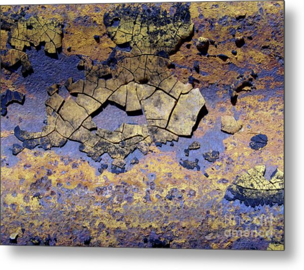 Rust And Paint Metal Print