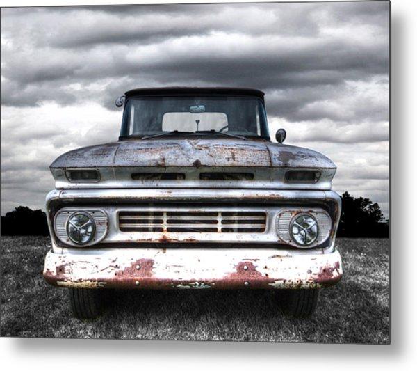 Rust And Proud - 62 Chevy Fleetside Metal Print
