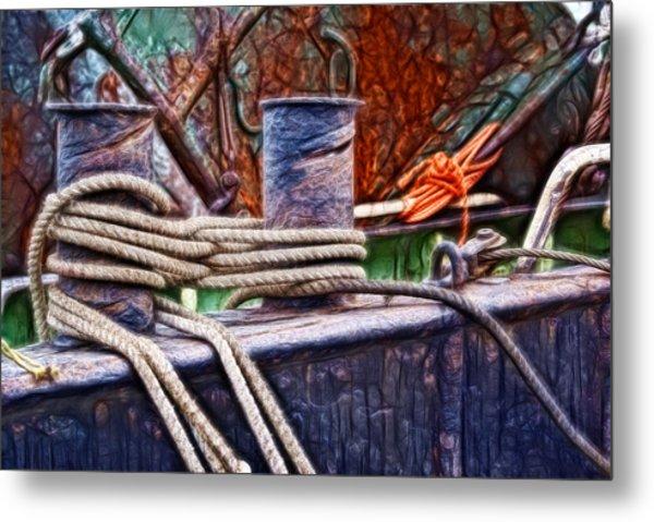 Rust And Rope Metal Print