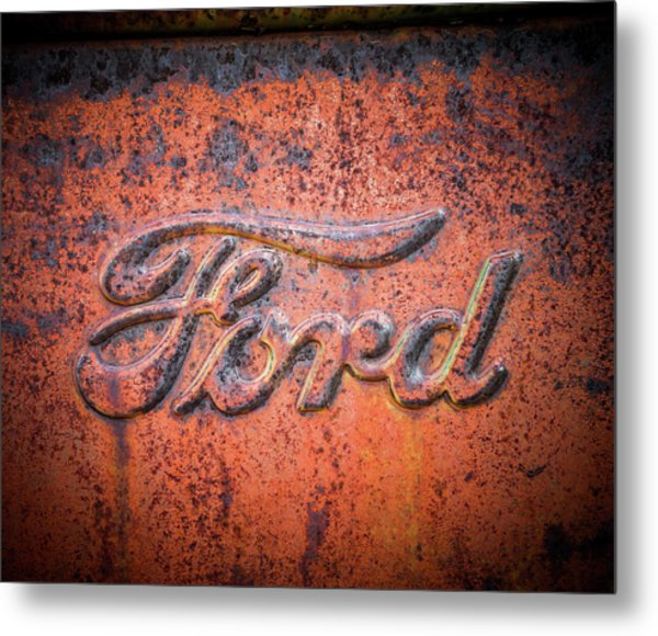 Rust Never Sleeps - Ford Metal Print