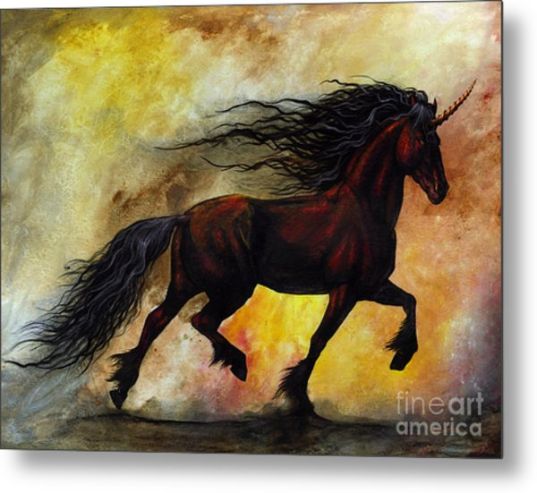 Rust Unicorn Metal Print