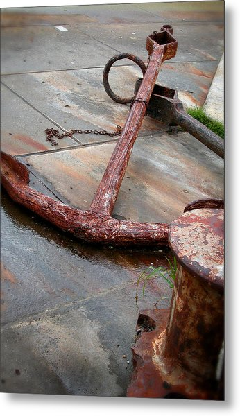 Rusted Anchors Metal Print