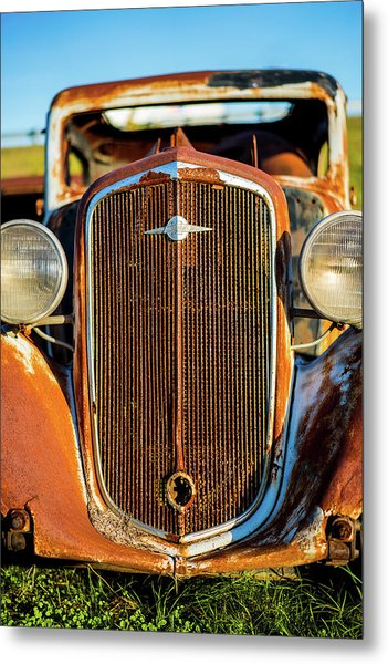 Rusted Chevrolet Metal Print
