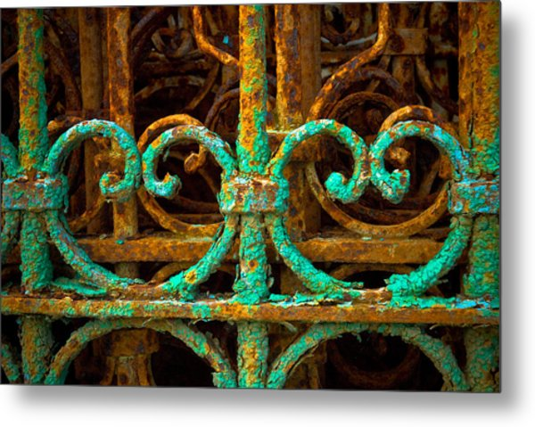 Rusted Gates Metal Print by Craig Perry-Ollila