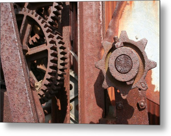 Metal Print featuring the photograph Rusted Gears by Dylan Punke
