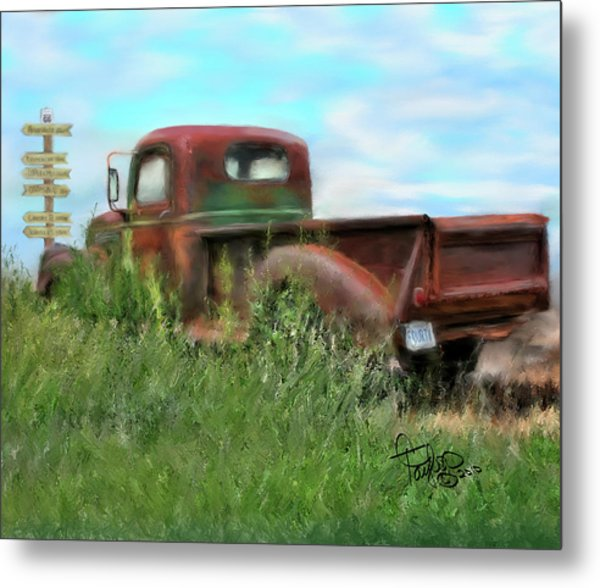 Rusted Not Retired Metal Print