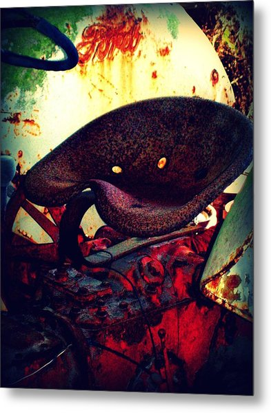 Rusted Seat Metal Print by Dana Blalock