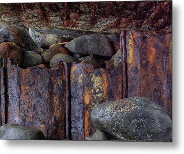 Rusted Stones 3 Metal Print