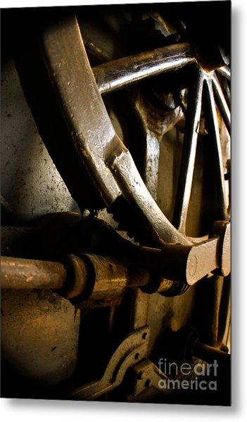 Rusted Wheel Metal Print