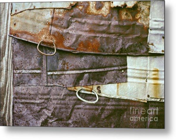 rustic abstract photograph - Sheet Metal Wall Metal Print