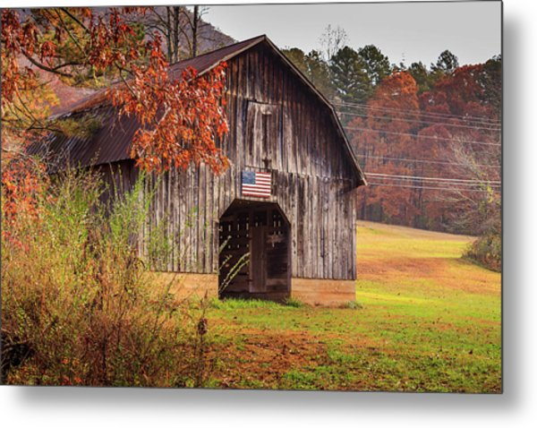 Metal Print featuring the photograph Rustic Barn In Autumn by Doug Camara
