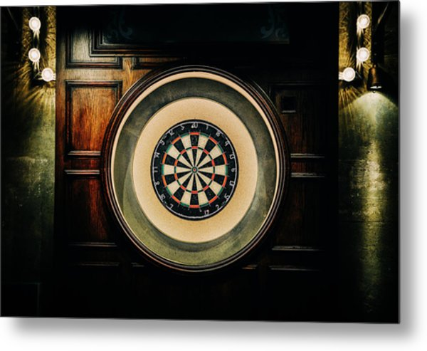 Rustic British Dartboard Metal Print