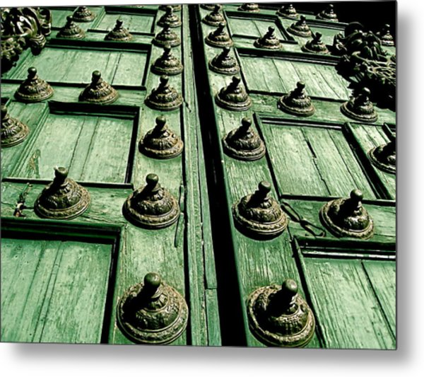 Rustic Church Door Metal Print