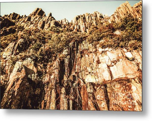 Rustic Cliff Spring Metal Print