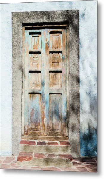 Metal Print featuring the photograph Rustic Door In San Miguel De Allende by Rob Huntley