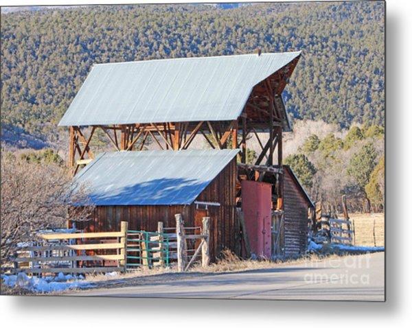Rustic Hay Barn Cedaredge Colorado Metal Print
