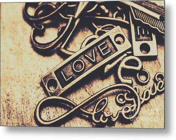 Rustic Love Icons Metal Print